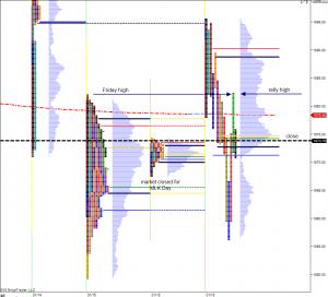January19, 2016 Market Profile Graph