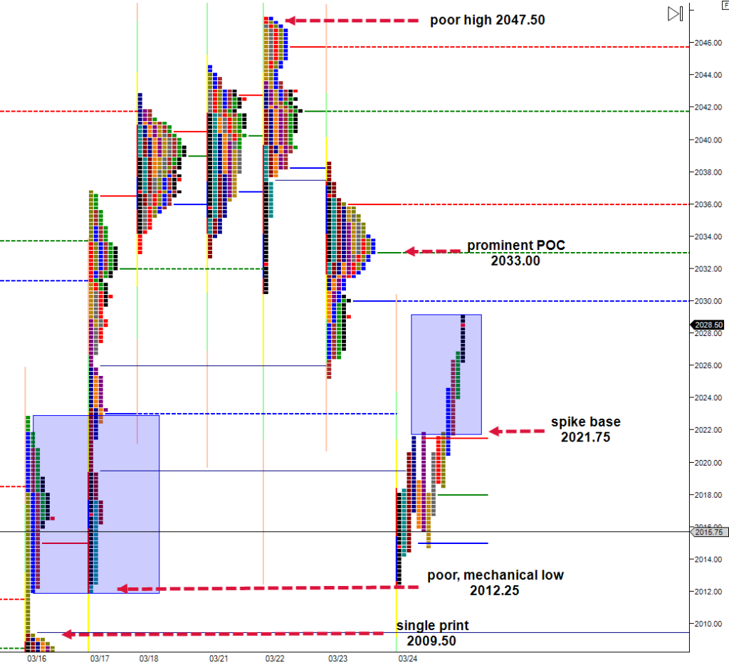 Thursday March 24 Market Profile Chart